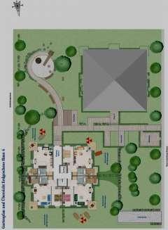 Klasse-Lage in Freiburg, vermietete 2-Zimmer-Wohnung - Ansicht EG Gartenanteile und Ausrichtungen