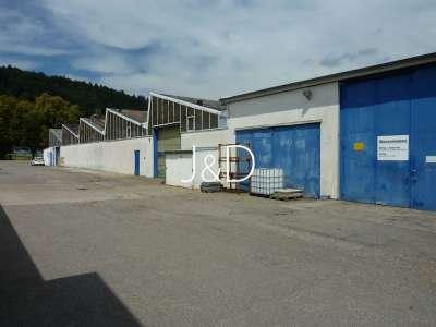 3 Hallen für Produktion, Lagerung und Montage mit Bürogebäude - Ansicht Südwest